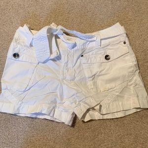 Girls' Ralph Lauren White Cargo Shorts